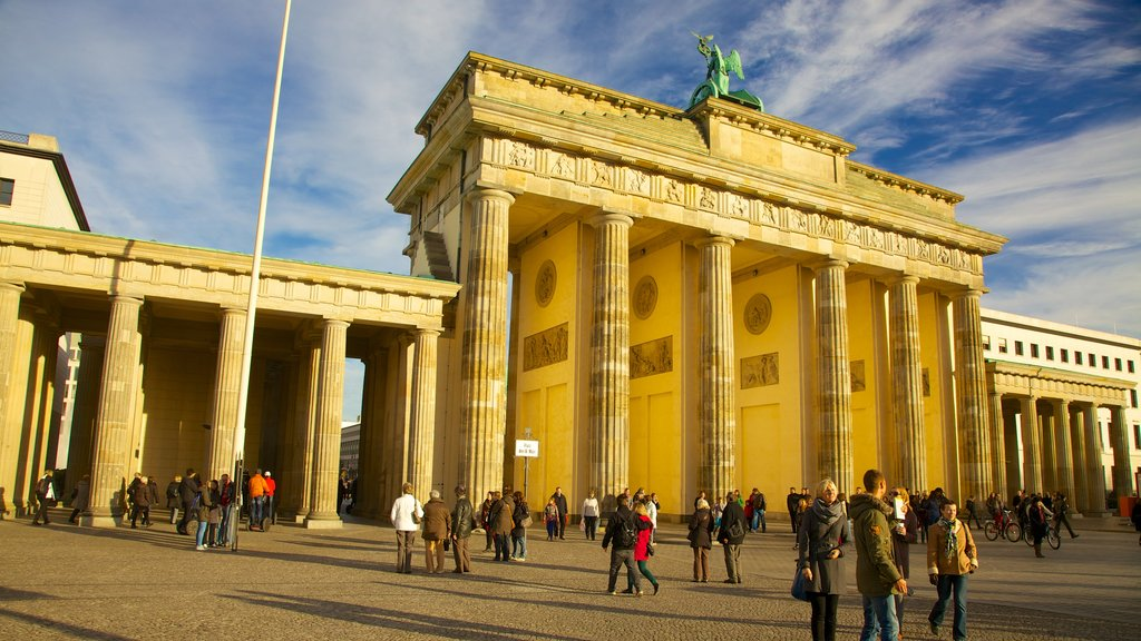 Brandenburg Gate featuring heritage architecture, a city and a monument
