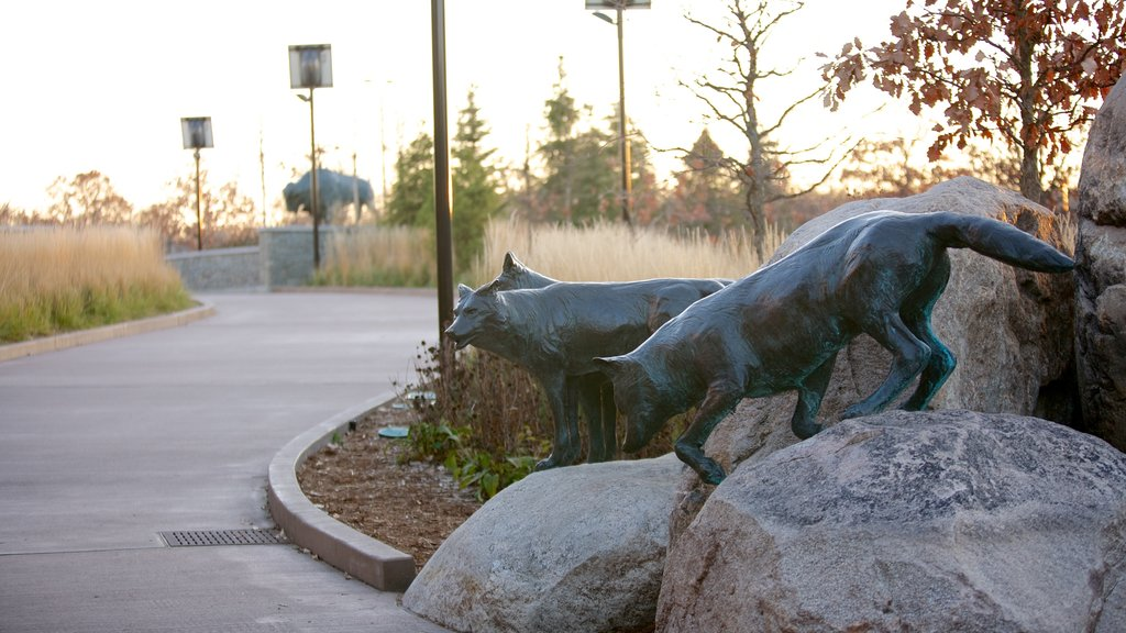 Minnesota Zoo featuring a park and outdoor art