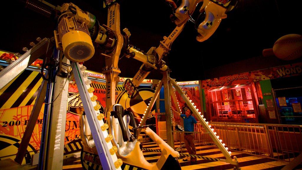 Wonderworks showing rides and interior views