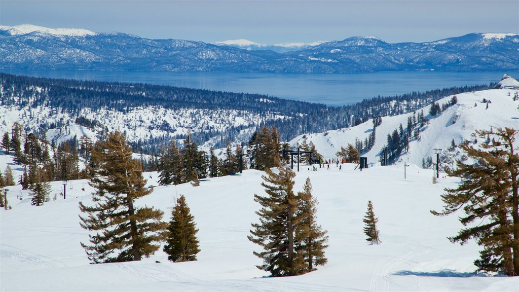 Squaw Valley Resort which includes tranquil scenes, landscape views and snow