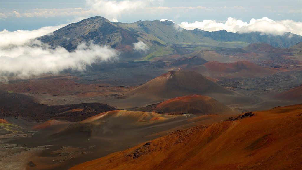 Haleakala National Park featuring landscape views, tranquil scenes and mountains