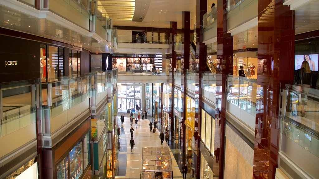 Time Warner Center which includes shopping and interior views