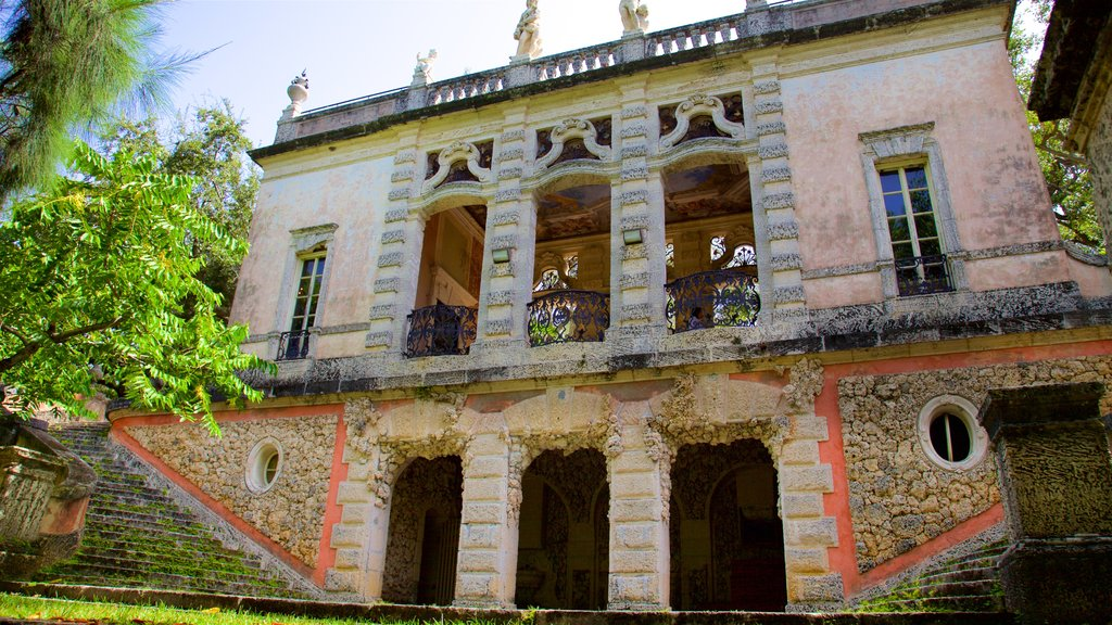 Vizcaya Museum and Gardens which includes heritage architecture