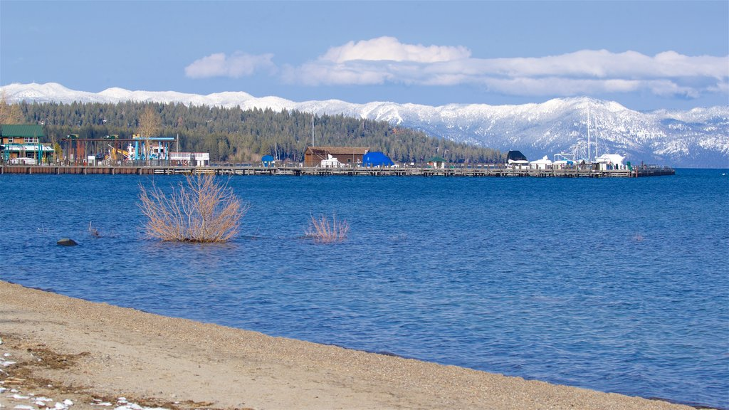 Tahoe City which includes a river or creek, tranquil scenes and a sandy beach