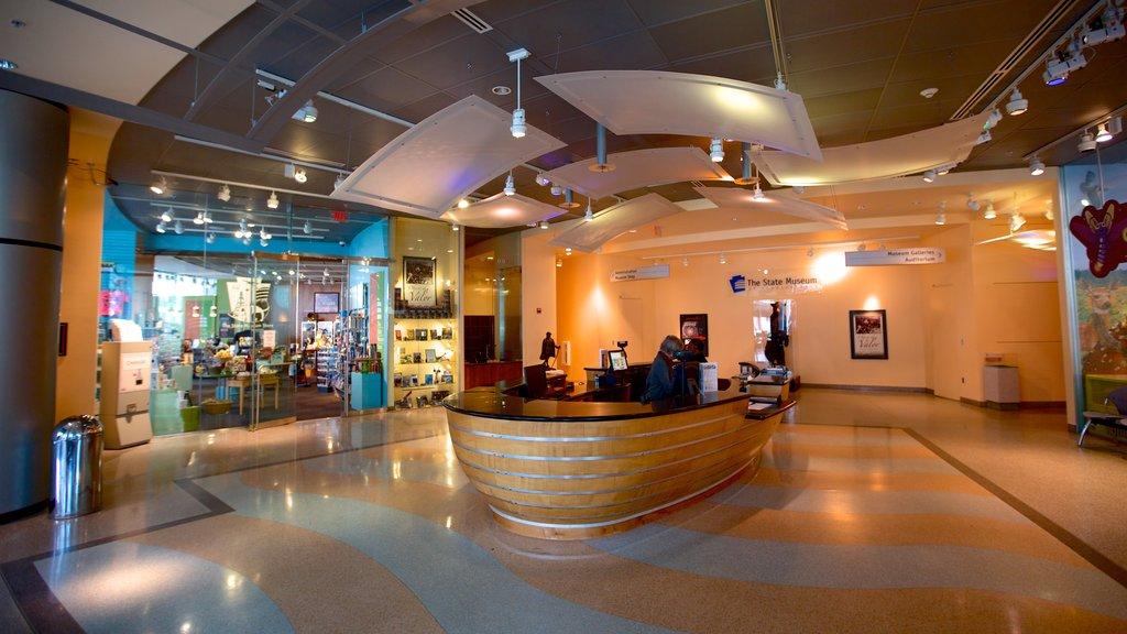 State Museum of Pennsylvania featuring interior views