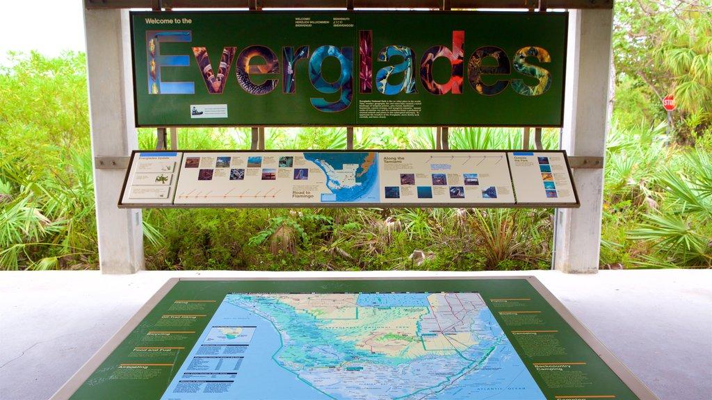 Ernest F. Coe Visitor Center showing signage