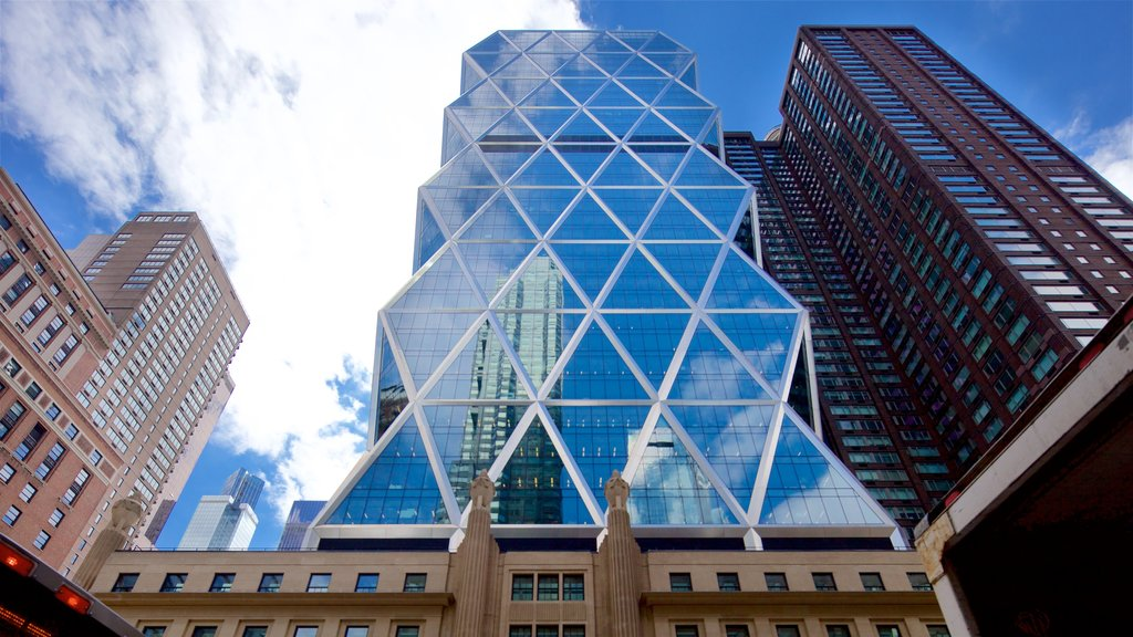 Hearst Tower which includes modern architecture, a high rise building and a city