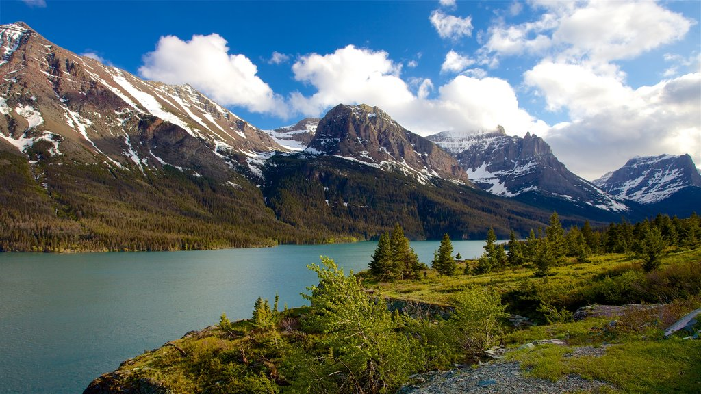 St. Mary Lake which includes a river or creek, tranquil scenes and landscape views
