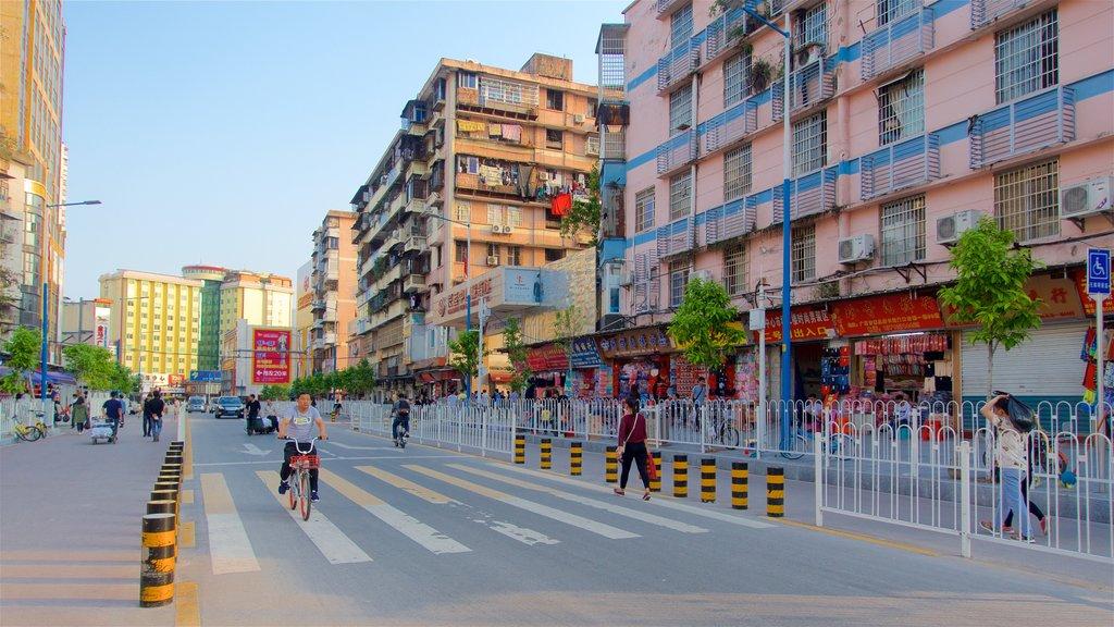 Tianhe ofreciendo una ciudad y también un pequeño grupo de personas