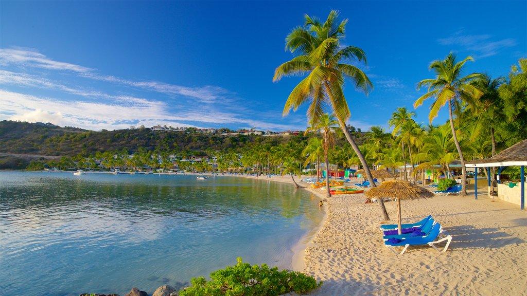 Mamora Bay featuring general coastal views, tropical scenes and a sandy beach