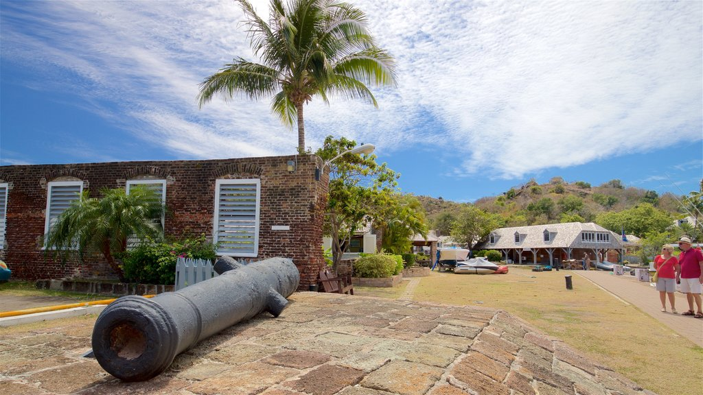 Nelson\'s Dockyard showing heritage elements as well as a couple