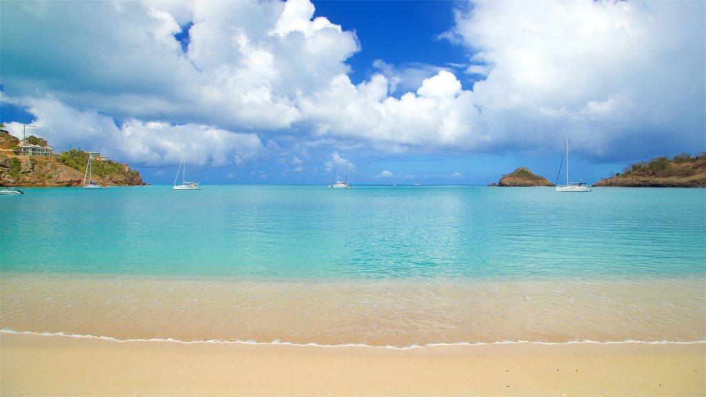 Deep Bay which includes a beach and general coastal views