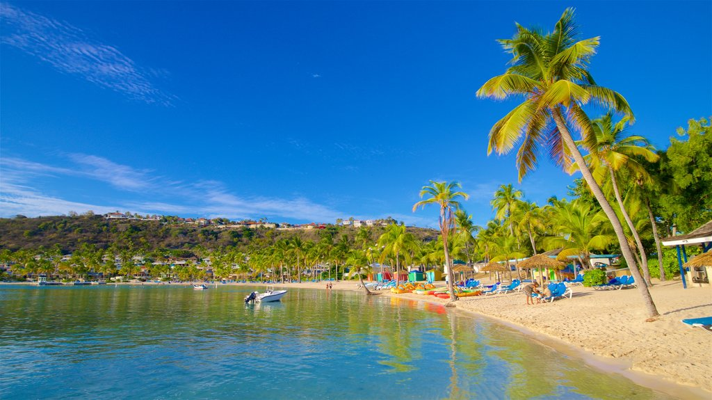 Mamora Bay which includes general coastal views, tropical scenes and a sandy beach