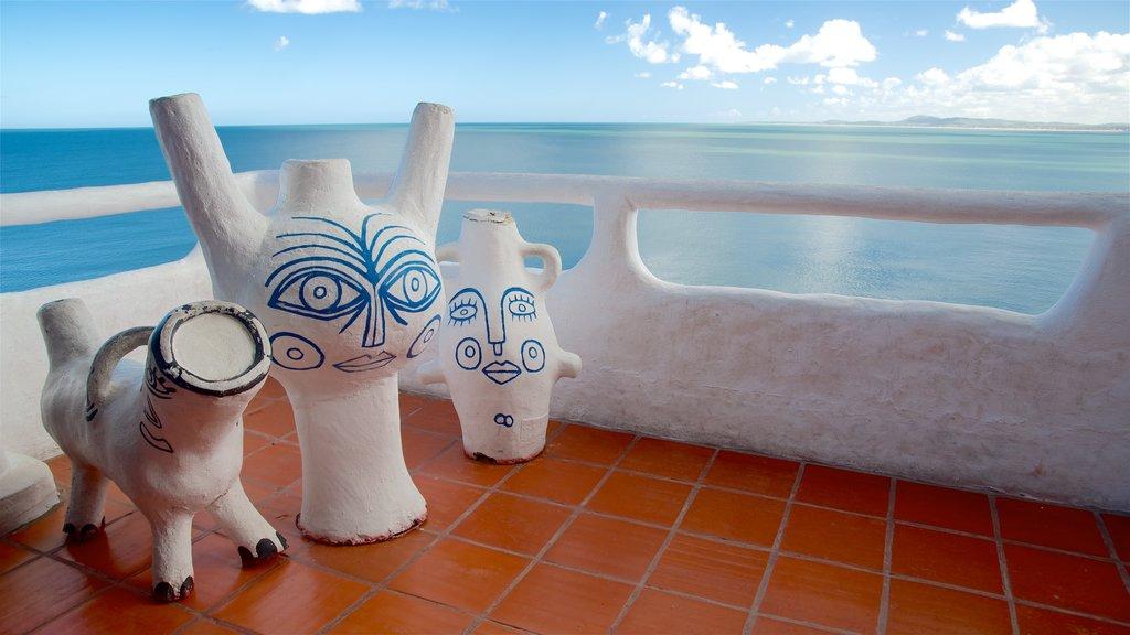 Uruguay featuring views, general coastal views and outdoor art