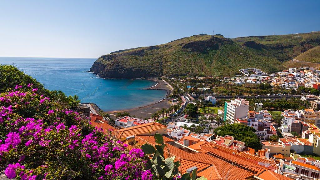 La Gomera mostrando vistas de paisajes, una ciudad costera y vistas generales de la costa