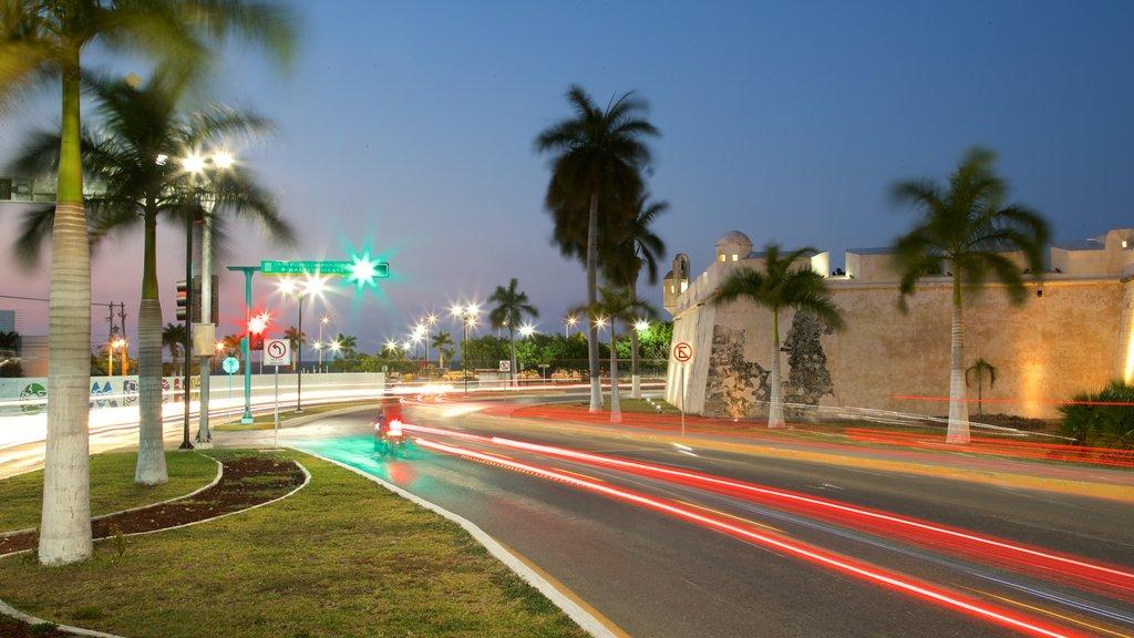 Campeche featuring night scenes