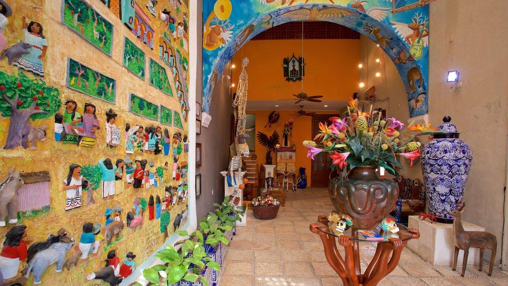 Casa de los Venados que incluye flores y vistas interiores