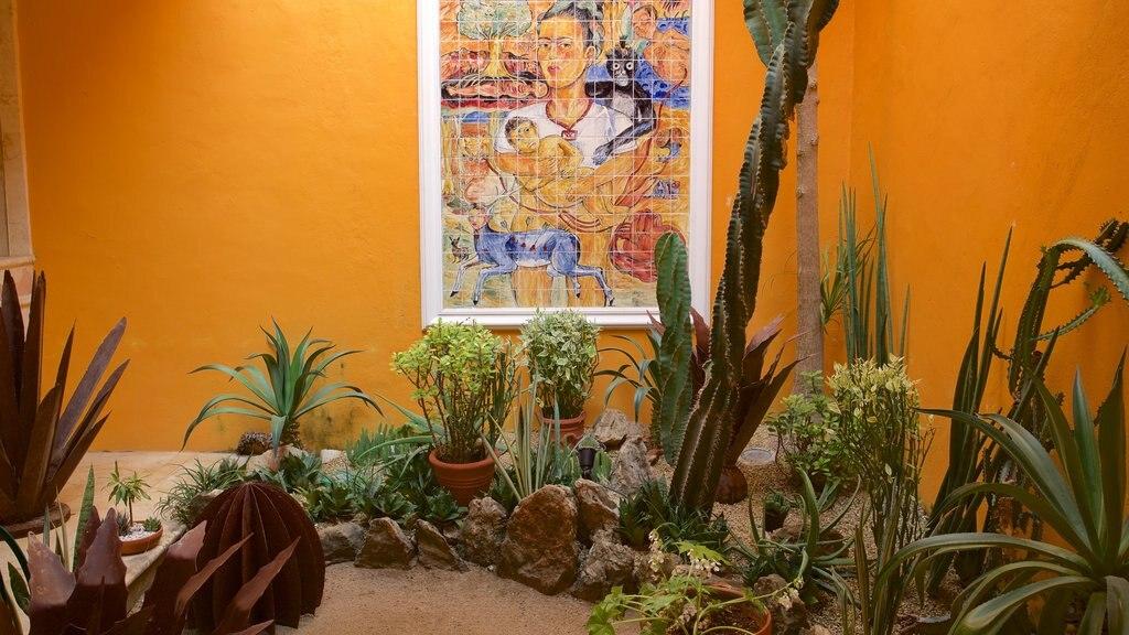 Casa de los Venados mostrando vistas interiores, arte y un parque