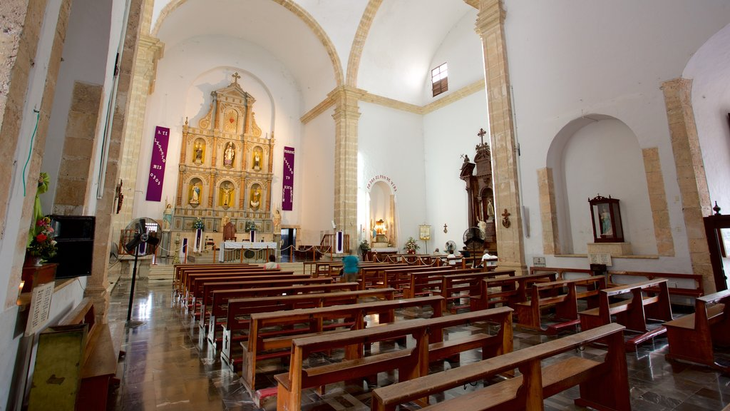Cathedral of San Gervasio featuring heritage elements, a church or cathedral and interior views