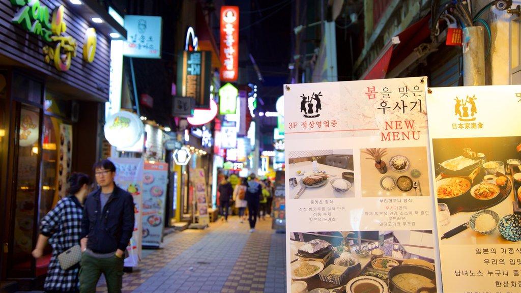 Busan mostrando una ciudad, señalización y dfc