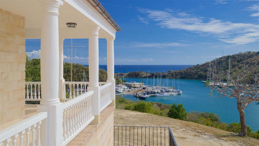 Antigua featuring a bay or harbor and a house