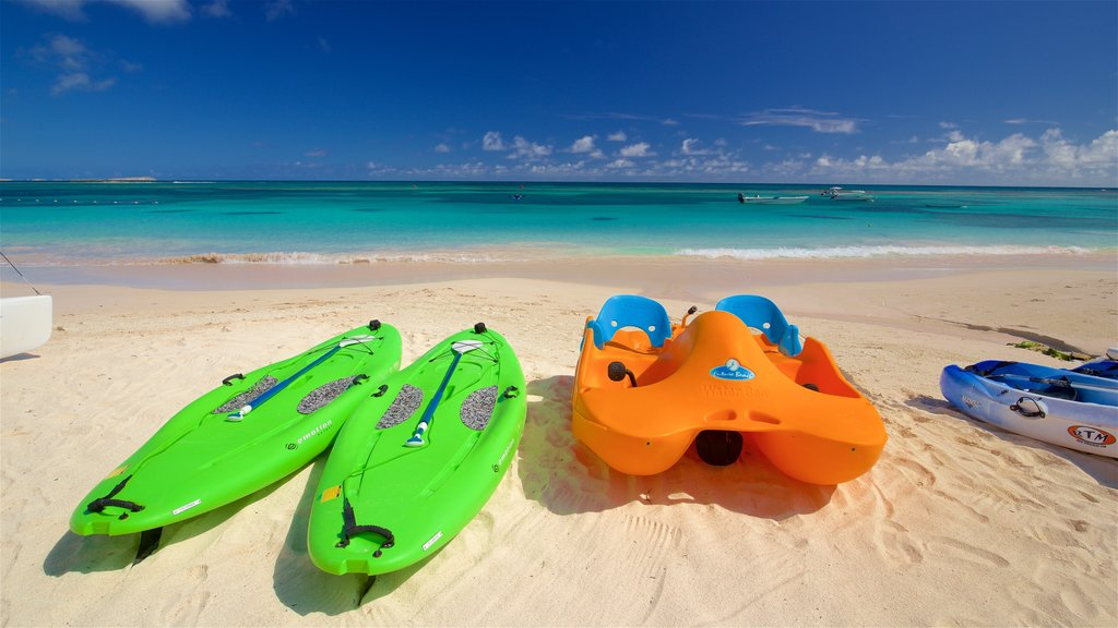 Antigua which includes general coastal views and a beach