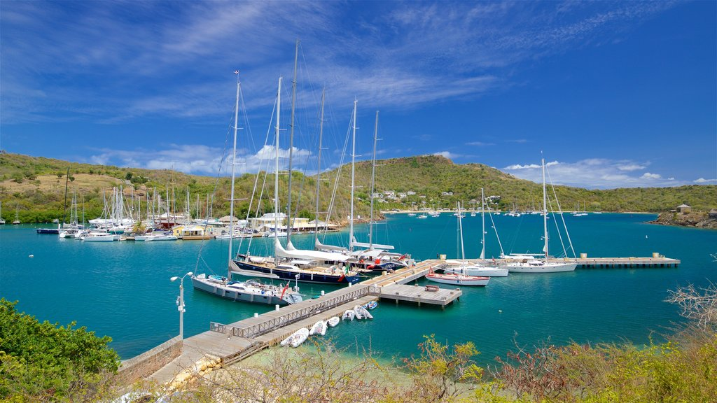 Antigua featuring a bay or harbor