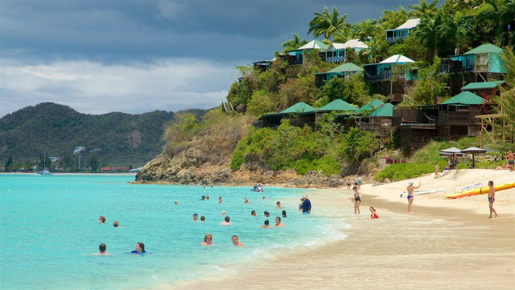 Antigua showing swimming, tropical scenes and general coastal views