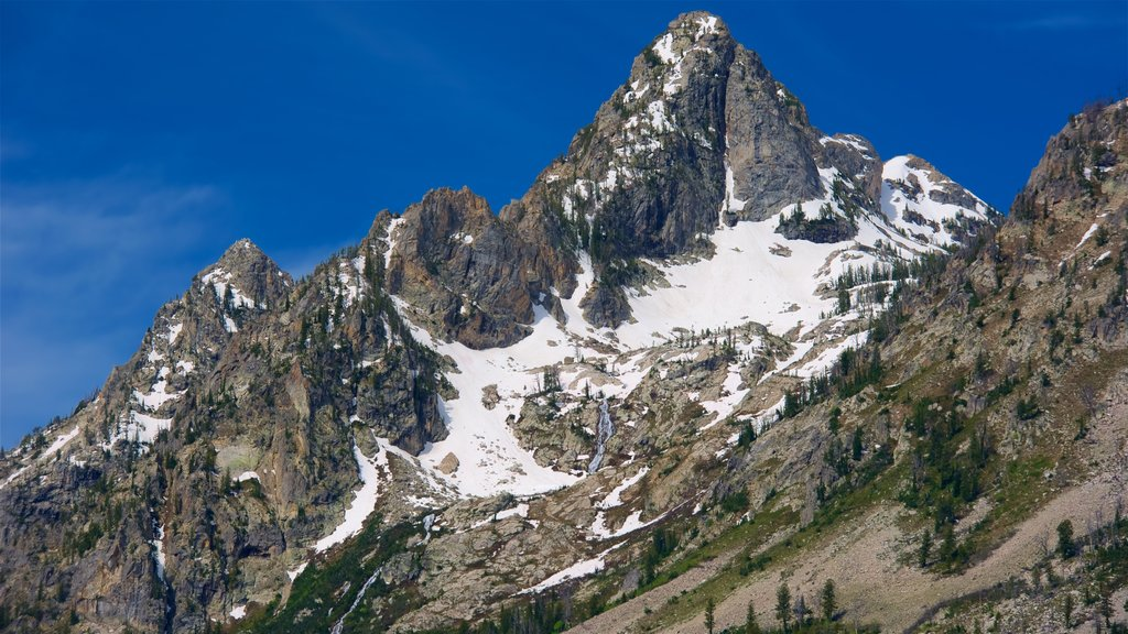 Grand Teton National Park featuring mountains and snow