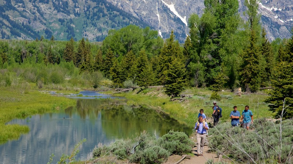 Schwabacher\'s Landing which includes a river or creek, tranquil scenes and hiking or walking
