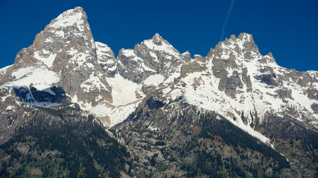 Grand Teton National Park featuring landscape views and mountains