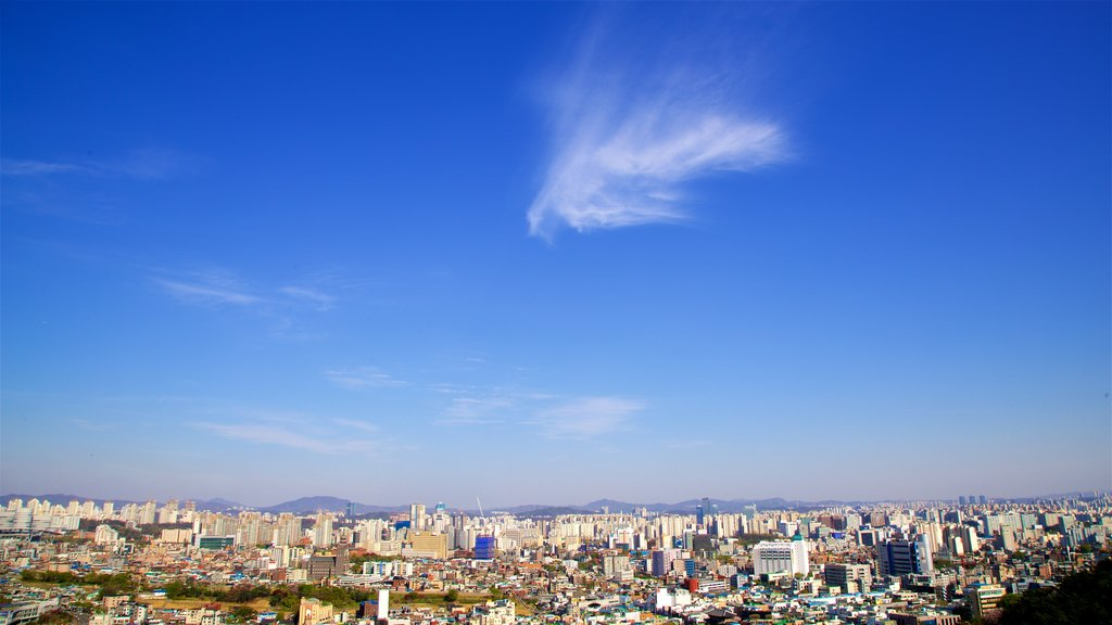 Suwon which includes landscape views and a city
