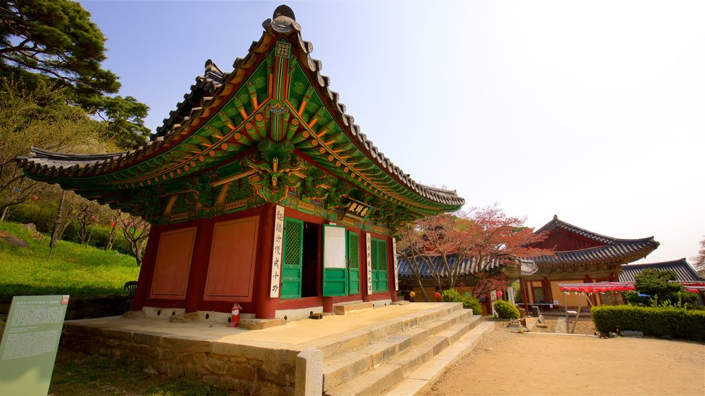 Jeondeungsa Temple featuring heritage architecture and a temple or place of worship