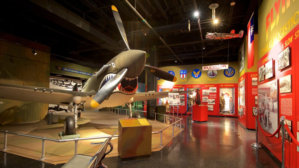 Warner Robins Museum of Aviation showing interior views