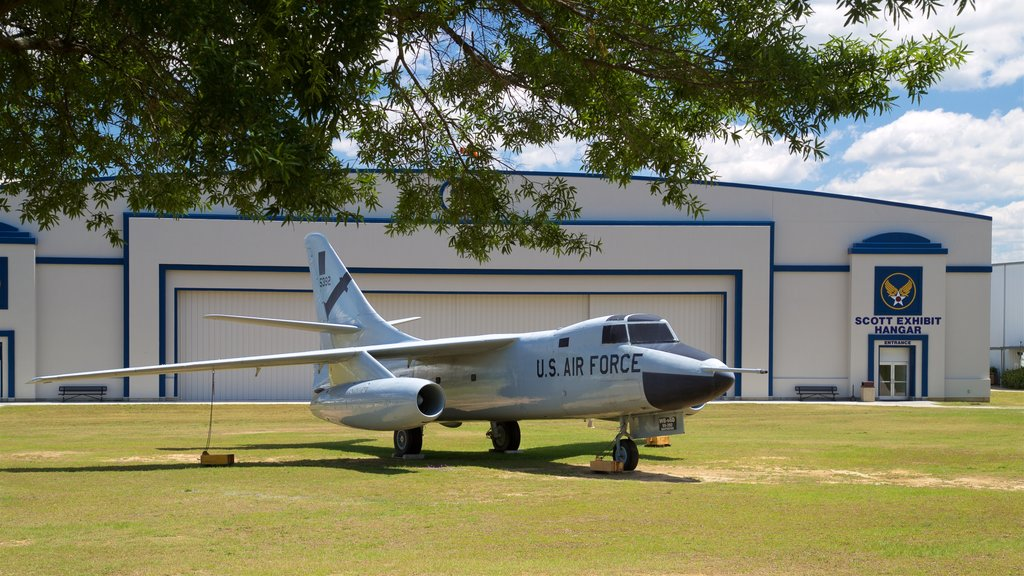 Warner Robins Museum of Aviation which includes heritage elements and military items