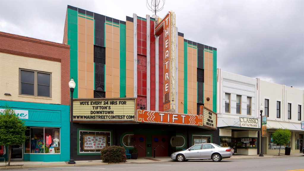 Tift Theatre showing signage