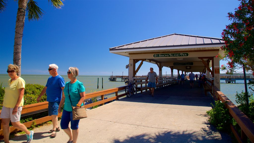 St. Simons Island Pier which includes general coastal views as well as a small group of people