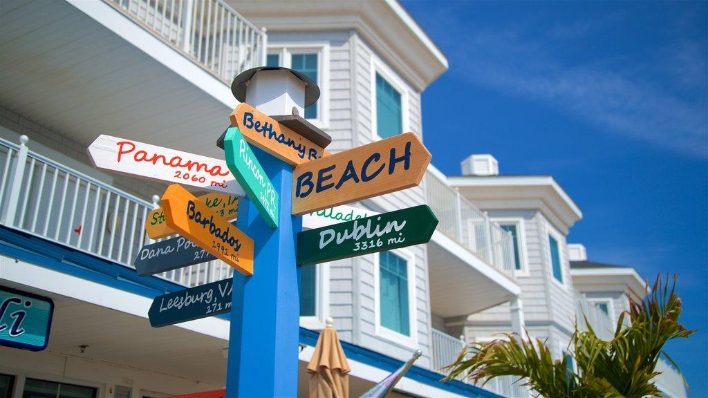 Bethany Beach showing signage