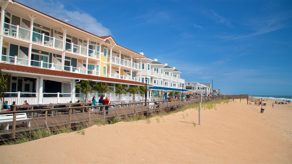 Bethany Beach showing general coastal views and a sandy beach