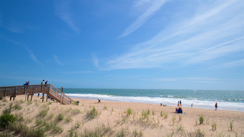 Bethany Beach which includes a beach and general coastal views as well as a small group of people