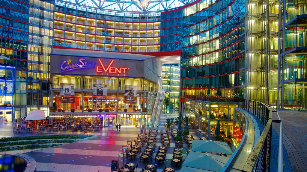 Potsdamer Platz featuring a city, modern architecture and shopping