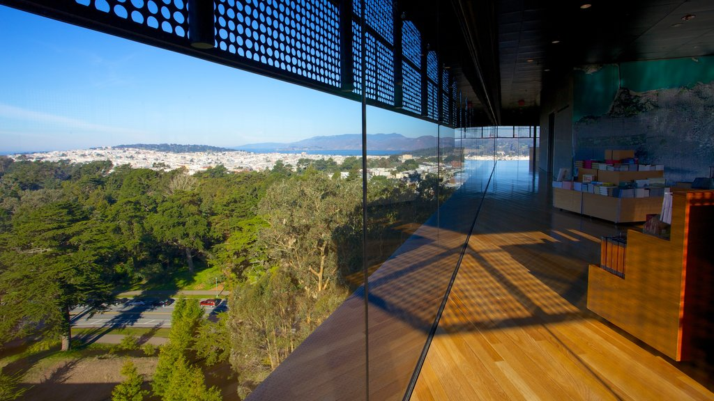 De Young Museum featuring interior views