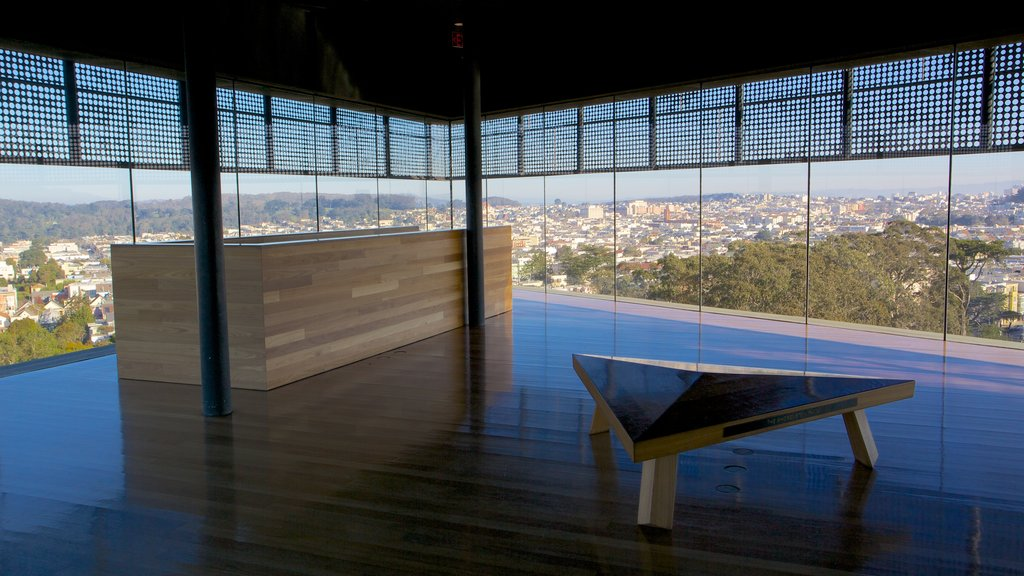 De Young Museum which includes interior views
