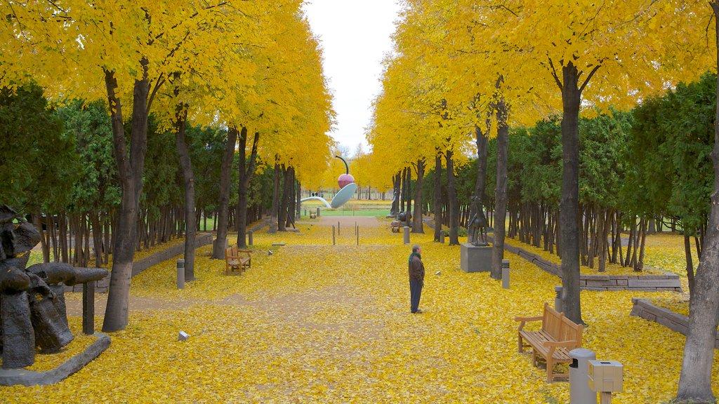 Walker Art Center mostrando arte, vistas de paisajes y arte al aire libre