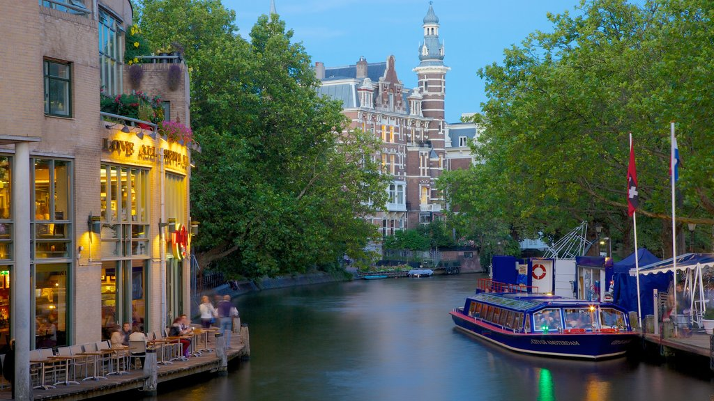 Holland Casino which includes a city, a ferry and a river or creek