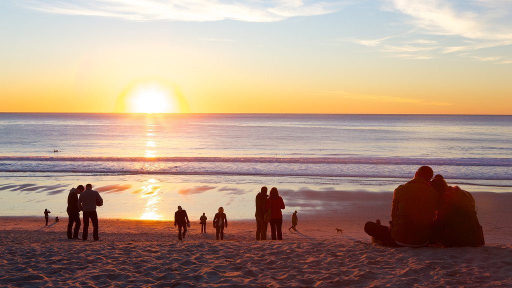 Monterey which includes landscape views, surf and a beach
