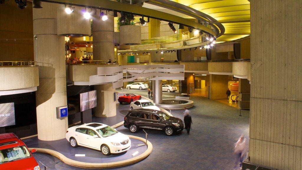 Detroit showing interior views