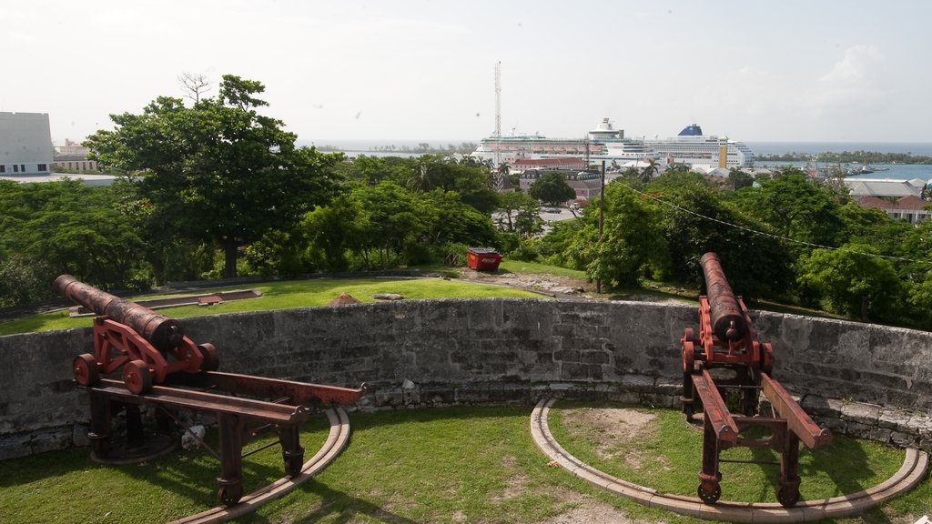 Nassau showing military items, views and a garden