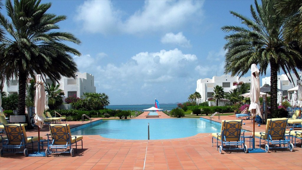 Anguilla showing tropical scenes, a pool and a coastal town