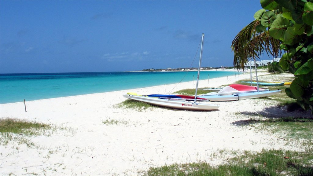 Anguilla featuring landscape views, a beach and tropical scenes